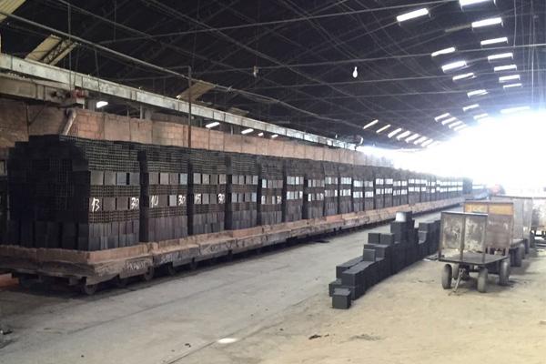 fotos de fabricação de tijolo